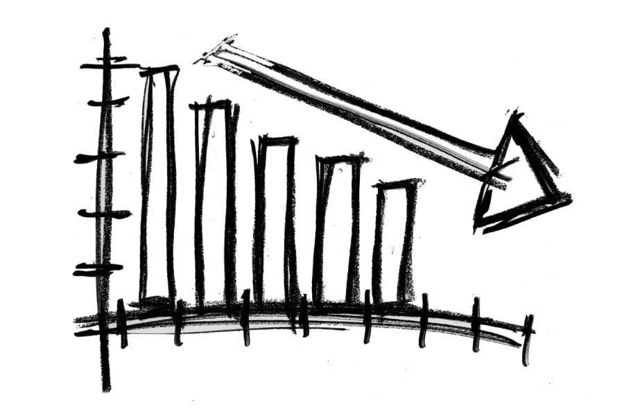 wyniki finansowe wykres strzalka