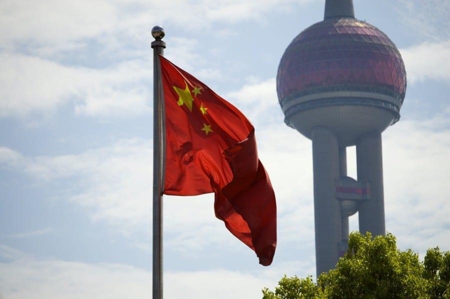 flaga chiny szanghaj