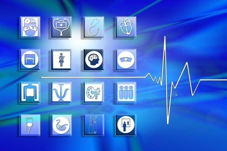 opieka zdrowotna leczenie ikony