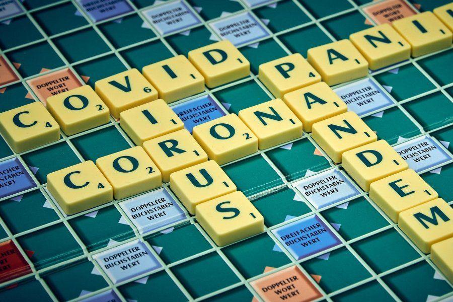 koronawirus covid scrabble