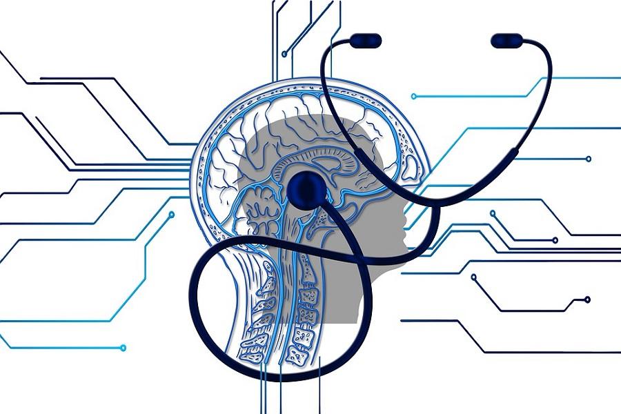 mozg stetoskop glowa
