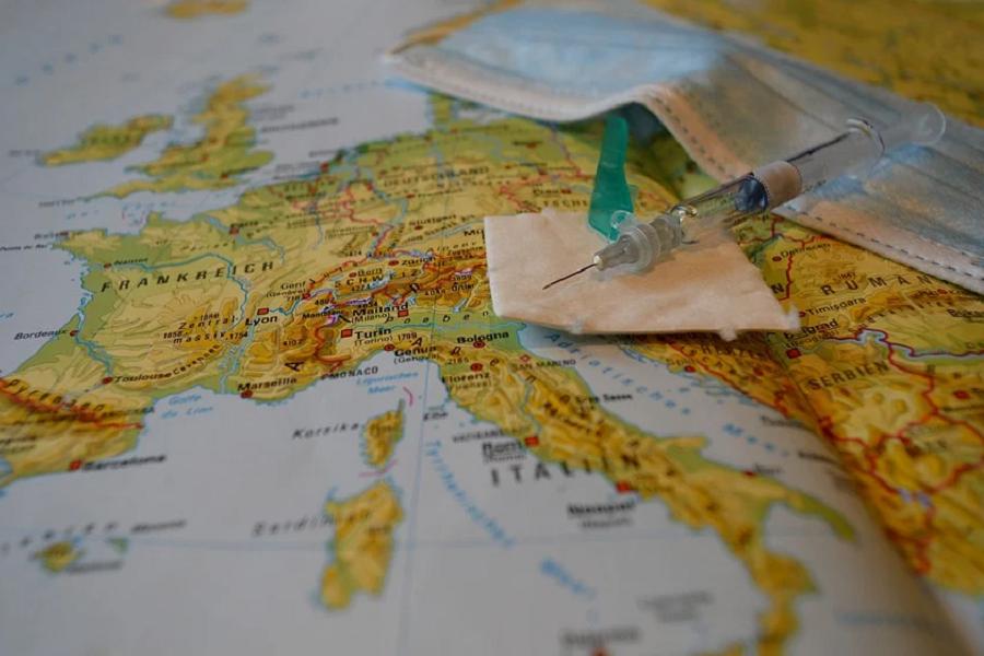 strzykawka mapa maseczka