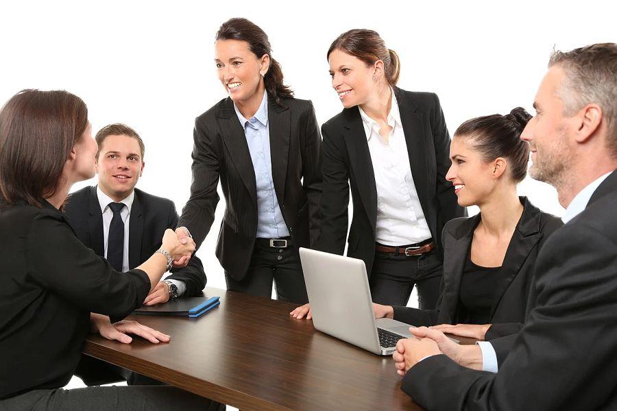 biznes ludzie spotkanie